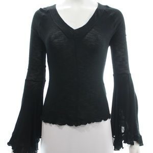FREE PEOPLE BLACK TOP SIZE SMALL/PETITE